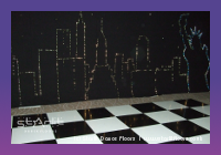 black and white chequerboard dance floor hire, Starlit Dance Floors